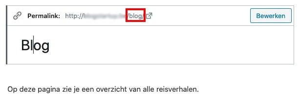 Blog pagina maken