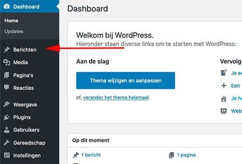 Bericht maken in WordPress - Nieuwe blog post
