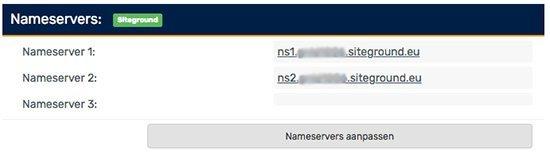 Nameservers aanpassen domein