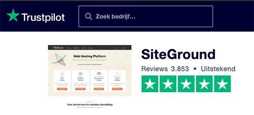 Trustpilot: Siteground webhosting review