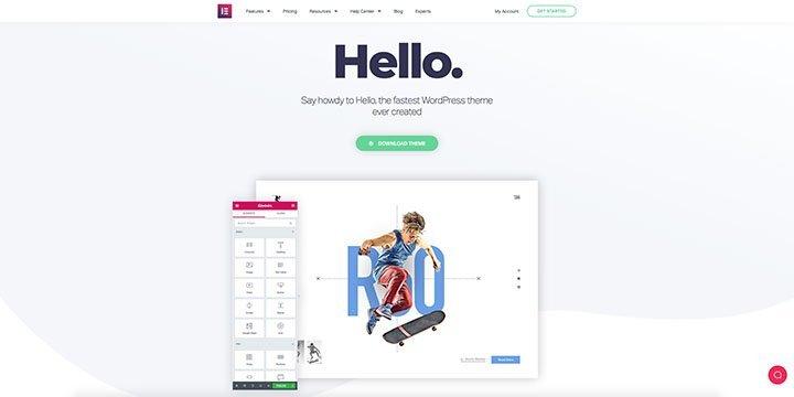 Elementor Hello wordpress theme