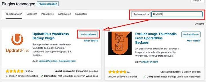 Hoe WordPress plugin installeren
