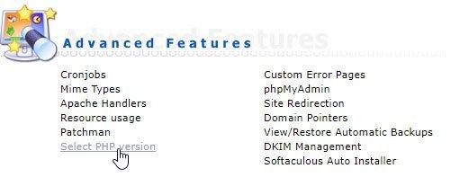 PHP versie updaten via DirectAdmin